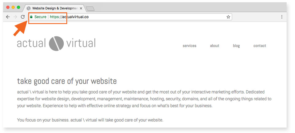 Be sure to secure your website with HTTPS by installing a SSL certificate
